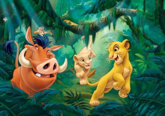 Buy photo wallpaper - Lion King| Homewallmurals.co.uk